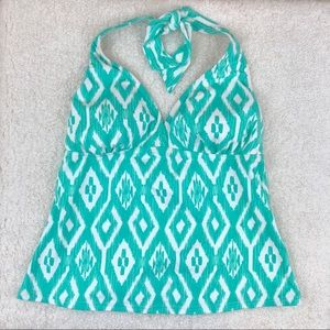 Lands end tankini halter top size 4